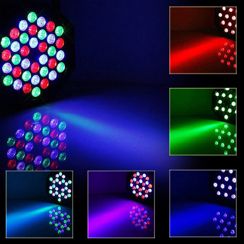 36 LED Par Lights Stage Lighting Remote DMX Control RGB Lights For Party Wedding Club Show GHS99