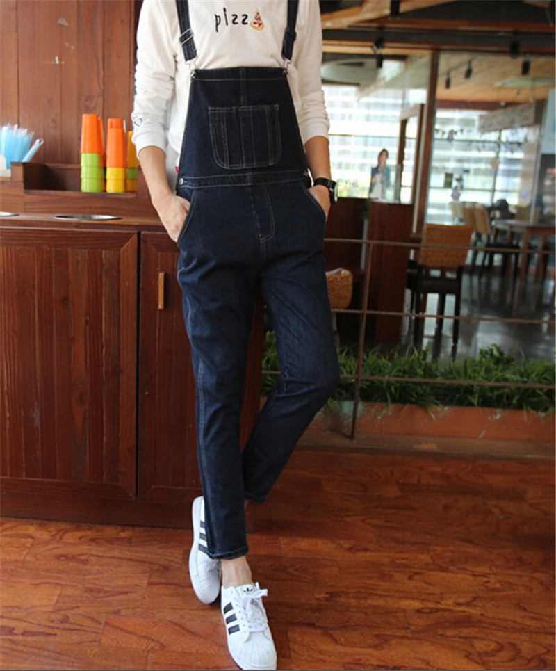2015 New Arrival Mens Jeans Fashion Mens Bib Overalls Denim Jumpsuit Men Men s Clothing Plus