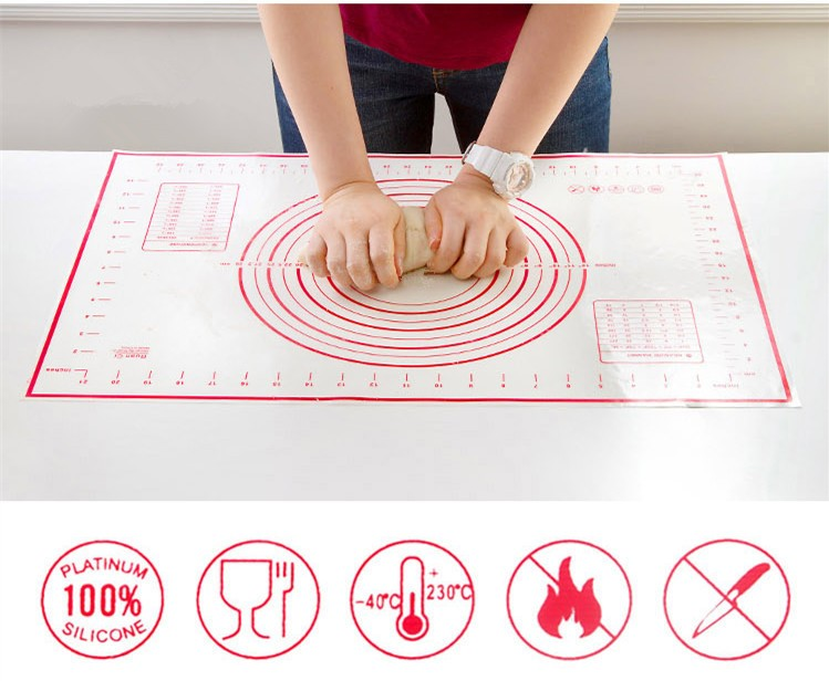Silicone Baking Mat Pizza Dough Maker Pastry Kitchen Gadgets Cooking Tools Utensils Bakeware Accessories Supplies Stuff Products 5