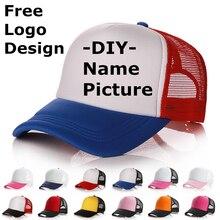 Factory price! Free Custom LOGO Design Personality DIY Trucker Hat Baseball