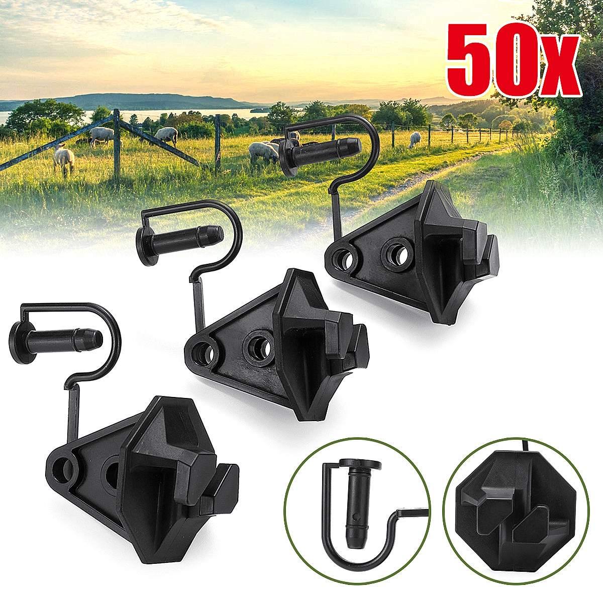 50pcs 1 6   Electric Fence Insulator Pinlock Pin Lock Insulators Steel Post