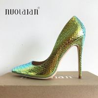 Brand Shoes Woman High Heels Ladies Shoes 12CM Heels Snake Print Pumps Women Shoes High Heels Sexy Party Wedding Shoes Stiletto
