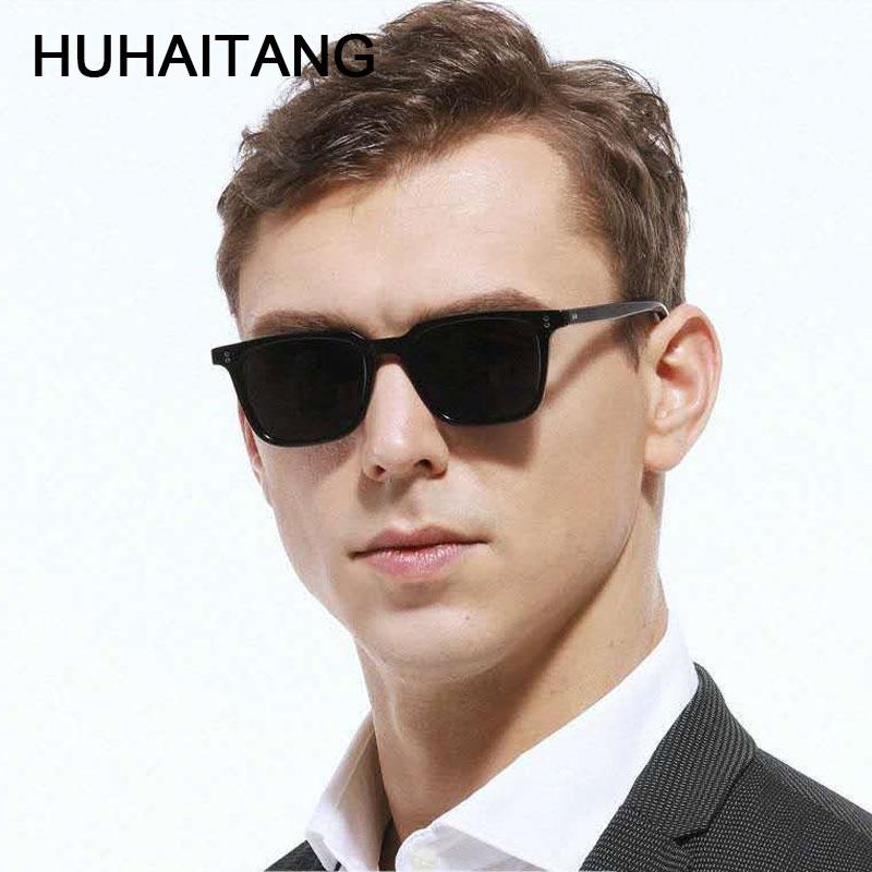 HUHAITANG Classic Suqare Sunglasses Men Vintage Small Rivets Sunglass Women Luxury Brand Designer Mens Sun Glasses For Woman