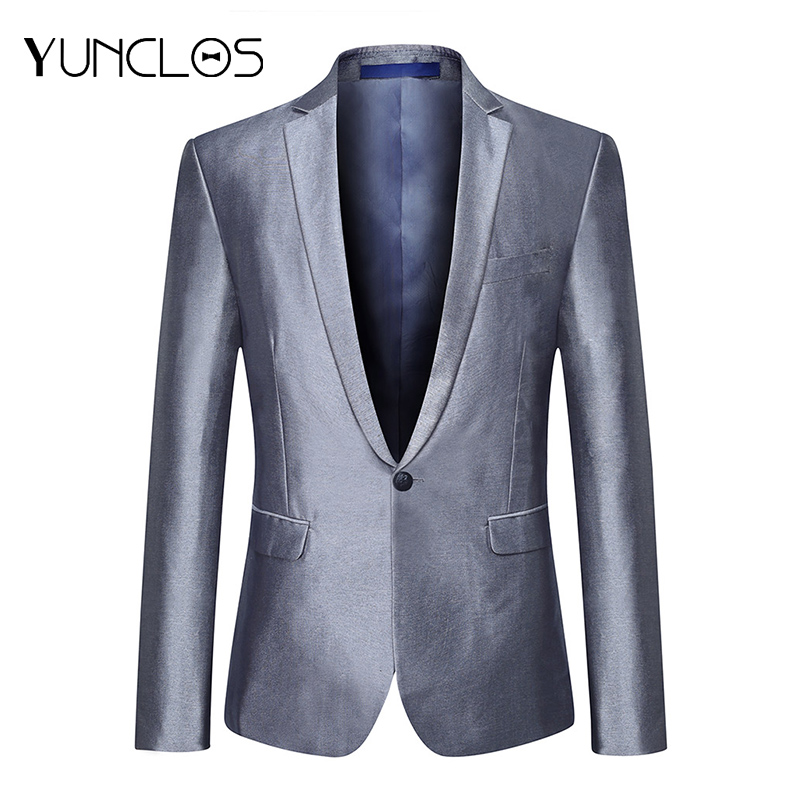 YUNCLOS Solid Color Men's Suit Jacket Wedding Party Dress Blazer And Trousers Slim Fit Blazers Men's Suit Blazers Jackets