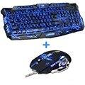 Новый Расширенный трехцветный Подсветкой Gamer Клавиатура Gaming Keyboard Mouse Combo 6 Кнопки 3200 ТОЧЕК/ДЮЙМ Механические Pro Gaming Mouse