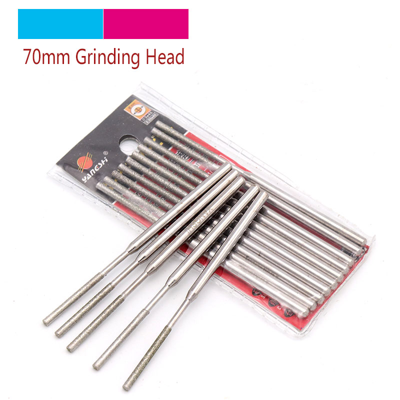 Hot 1/5pcs 1.5mm-8mm Cylinder Grinding Head Cutting Jade Glass Stone Ceramic Diamond CBN Point Bit Set Rotary Carving Tools PTYZ