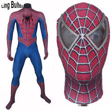 High Quality 3D Spider New Raimi Spiderman Suit 3D Print Spandex Movie Spidey Cosplay Suit Halloween Cosplay Spider-man Costumes