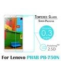 9 h delantero 0.3mm 2.5d vidrio templado protector de pantalla para lenovo phab pb1-750n 6.98 ''protective film + herramientas limpias