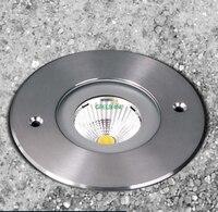 CREE 7W COB IP67 stainless steel LED inground lights LED plaza lights buried ligh  recessed Underground Uplighting 8pcs/lot