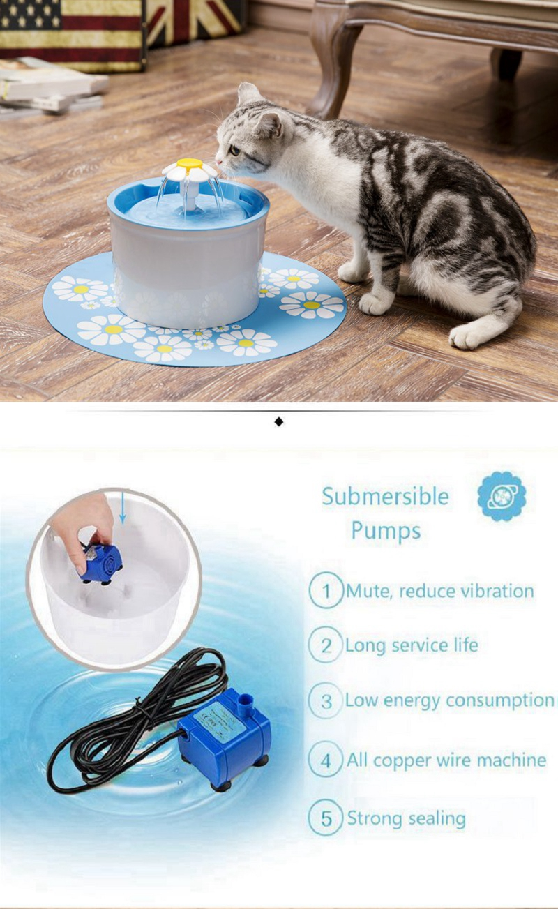 Pet Cat Fountain Pump Replacement For Fountain For Cat Dog Pets Drinking Water