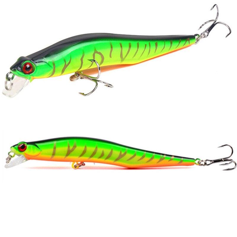 1Pcs Classic 12cm 10g Minnow Fishing Lure Hard Artificial Bait Bass Pike Carp With 2 Treble Hooks Fishing Wobblers Crankbait