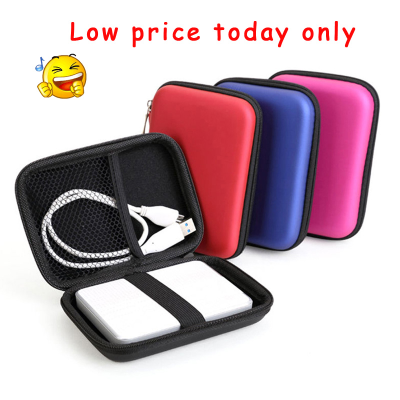Wholesale # 20pcs New Portable Zipper Case Bag Pouch Protector For 2.5 WD Seagate HDD Hard Disk Drive power back case ...