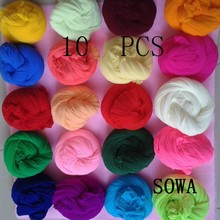 Estojo para flor elástico 2.0m, multicolor, de nylon, flor 10, pçs/lote, acessório, feito à mão, diy, de nylon
