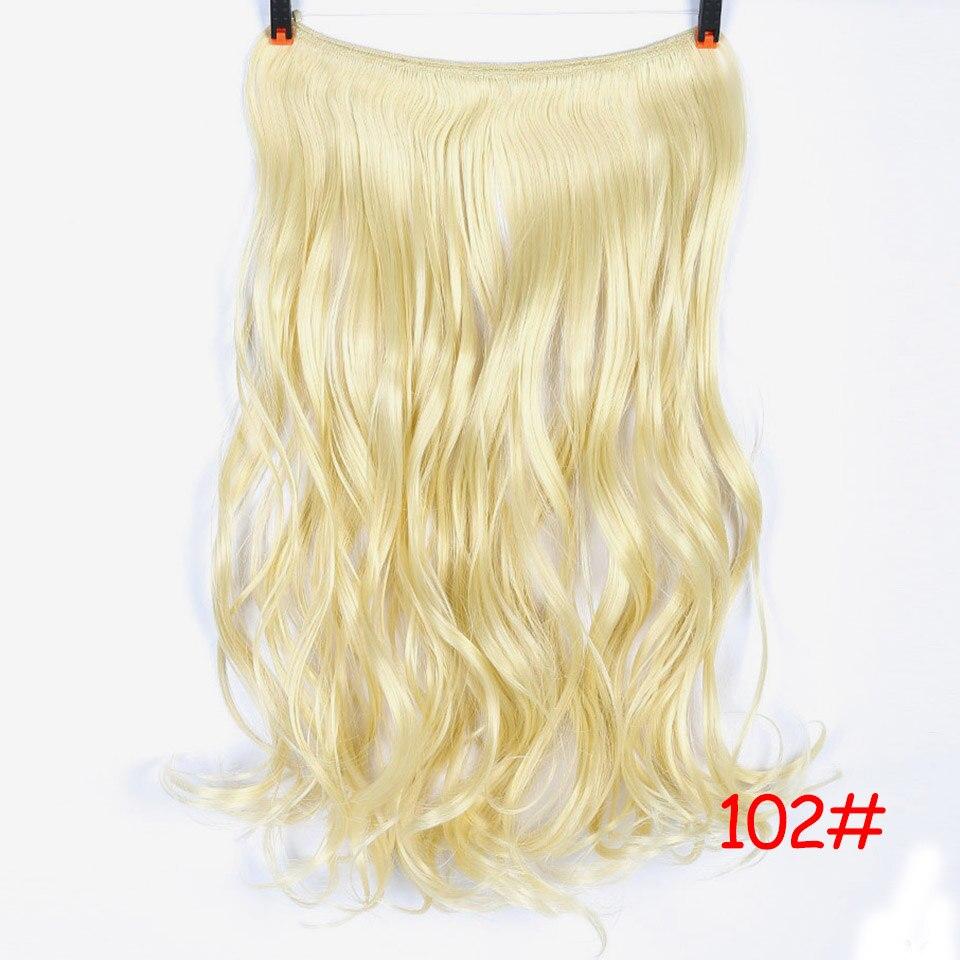 """SHANGKE 2"""" флип-на проволоке в синтетическом скрытом невидимом не клип в головном повязке прямые высокотемпературные волокна для наращивания волос - Цвет: #26"""