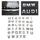 CITALL 40pcs/set DIY Chrome ABS Alphabet letter Number Symbol Emblem Badge Decals sticker For Ford Audi Nissan VW Toyota Honda