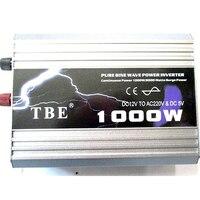 1000 Вт солнечный автомобиль авто Чистая синусоида Мощность инвертор DC12V 24 В 48 В к AC220V AC110V конвертер USB разъем для ноутбука телефону
