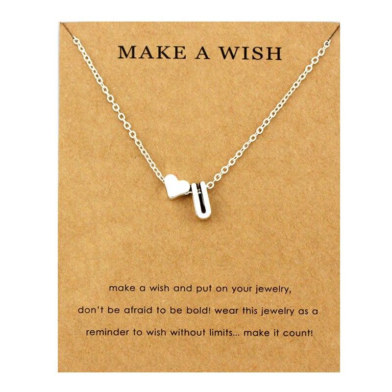 Сердце начальные Подвески ожерелье s персонализированное ожерелье с буквами Имя ювелирные изделия для женщин мужчин аксессуары подруги любовника пара подарок - Окраска металла: NE1675