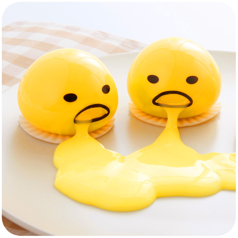 Antistress Squishy Egg Joke Squeeze Funny Toys Toy Ball Egg Vomiting Egg Yolk Slow Rising Squeeze