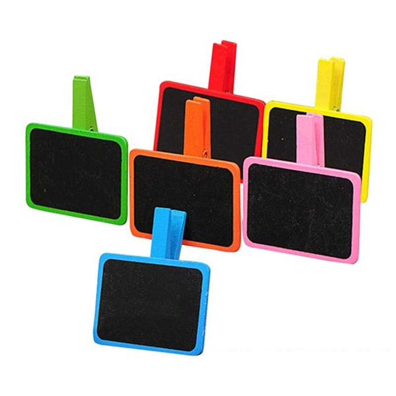 12pcs I132313 Colorful Cip Wooden Blackboard 6.5x4.5cm