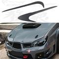 FRP Primer Car Headlight Eyelid Eyebrows Cover Trim Sticker for Subaru Impreza 9th 2005-2006