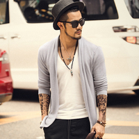 Mens Knit Cardigan Sweaters Men Knitwear trends thin Sweater Slim Casual Brand designers clothing Masculino spring autumn J80