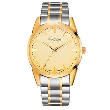 Brand Classic Relojes de Oro Hombres de Acero Inoxidable de Negocios Reloj de Cuarzo Relojes Hombre Pareja Reloj De Regalo Mujeres de la Alta Calidad