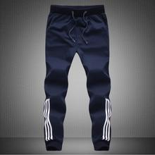 New Spring 2016 males's Fashion Designer Trousers Sweatpants, Men Casual  Pants Slim Pencil Pants Stripe Joggers M ~ 5XL