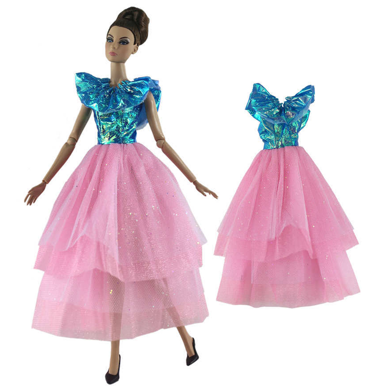 """Blue Pink Party Dress For 11.5/"""" Doll Outfits Princess Gown 1//6 Doll Clothes Toy"""