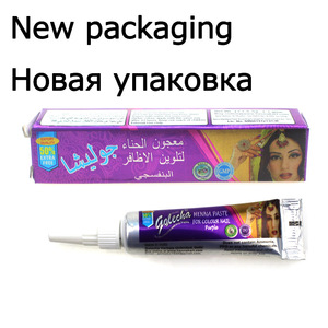 Image 2 - 1 Piece Indian GOLECHA Henna Nail Art,Mehndi Colored Henna Muslim Body Painting Draw Paste Cones For Islamic Natural Body Paint