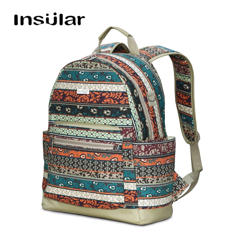 INSULAR Canvas National Style Diaper Bags Backpack Maternity Baby Bag for Mom Mommy Travel Stroller Large capacity Waterproof INSULAR Canvas National Style Diaper Bags Backpack Maternity Baby Bag for Mom Mommy Travel Stroller Large capacity Waterproof