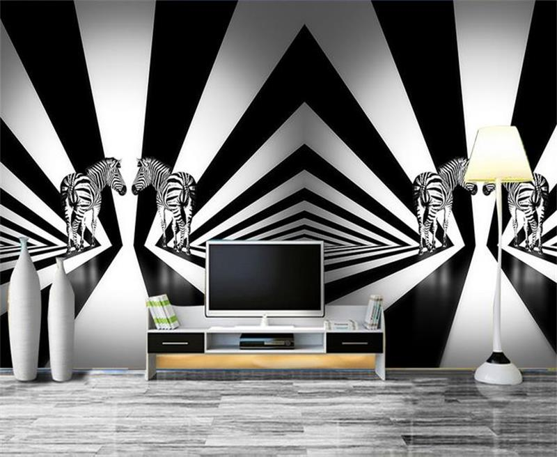 Zebra stripe wallpaper promotion shop for promotional for Mural hitam putih