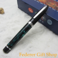 Duke D911 Sharks high quality green resin fountain Pen, Heavy texture metal case Gift ink pen 3 Color optional