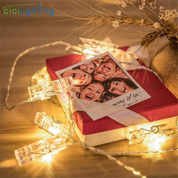 1m 2m 3m 4m 6m Photo Clip lamp LED String lights Battery or USB DC 5V Christmas Holiday Party Wedding Decoration Fairy lights 1