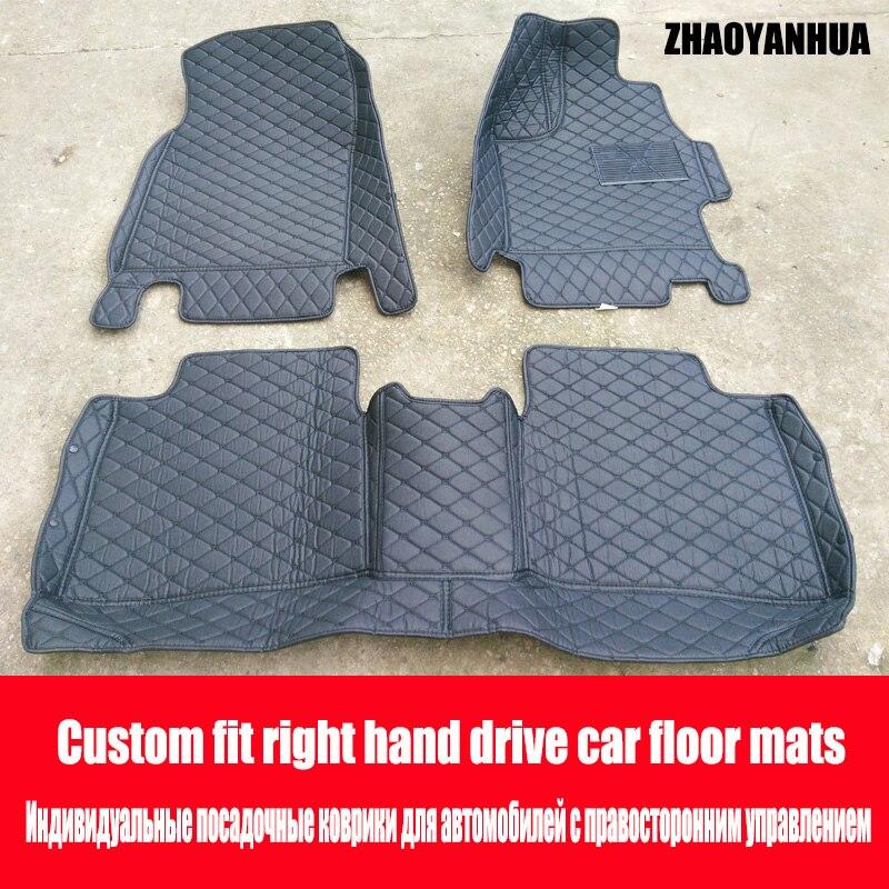 ZHAOYANHUA tapis de sol de voiture fait pour Kia K7 Cadenza housse complète imperméable à l'eau tapis de voiture style tapis parfaits doublures (2011-n