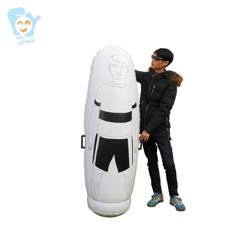 63 pouces 1.6 m haute Enfants ballon de football gonflable mannequin d'entraînement pour Jeunes de Football Gardien de But Tumbler