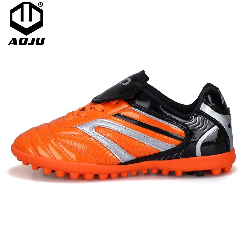 5124124a AOJU размер 31-44 мужские Мальчики Детские футбольные бутсы Turf футбольная  обувь TF жесткий Суд