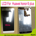 Hot sale black white gold color 5.5inch 6 plus LCD Display+Touch Screen Digitizer Glass Panel  For Huawei honor 6 plus lcd
