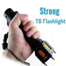 Powerful LED FlashLight Torch Light Cree T6 Searchlight Tactical Lanterna Torche 18650 Self Defense Attack Alarm Hunting Light chenglnn self defense flashlight waterproof 800lm powerful led torch 5 mode sos cree xml t6 led flash light for camping hunting