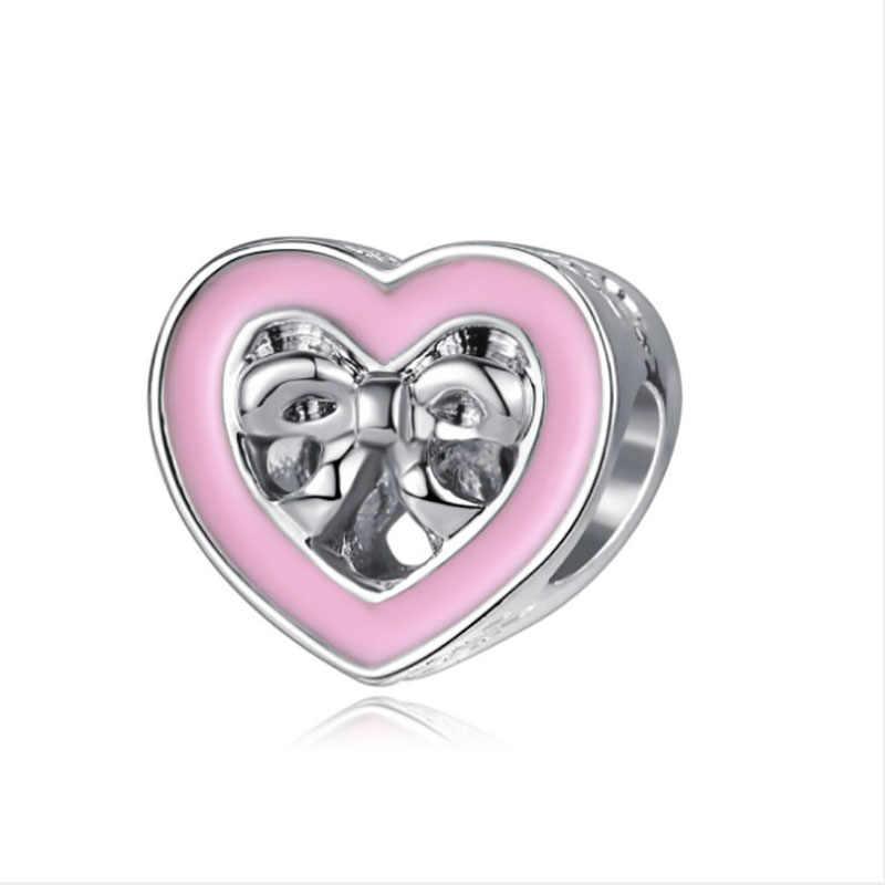 Fit פנדורה קסמי כסף 925 מקורי צמיד תכשיטי חג אהבת מתנות Bijoux Boucle Oreille Femme חרוזים תכשיטים