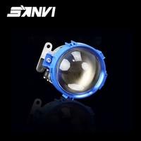 Sanvi синий bi led объектив проектора фар 35 w 5500 k супер яркий H4 H7 9006 автомобилей лампа замена