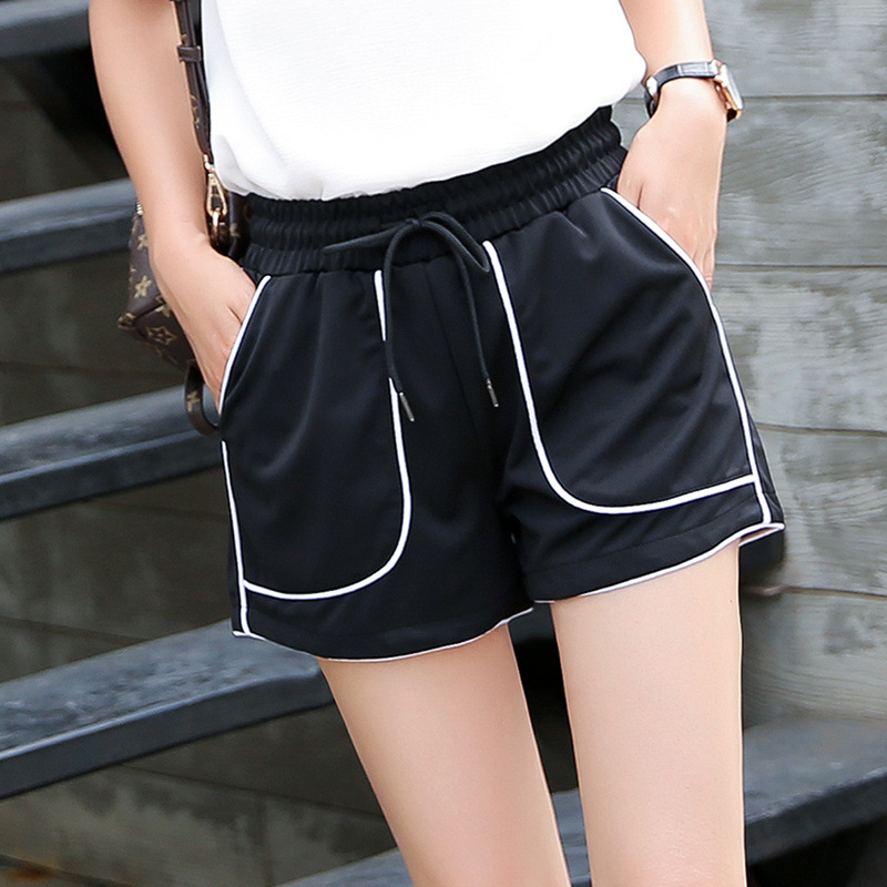 LC510 Flower-wrapped Broad-legged Sports   Shorts   for Women in Spring and Summer