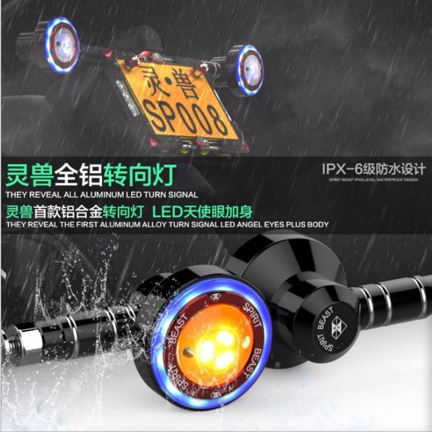 Spirit Beast 2pcs/lot motorcycle modified turning signals light Super beautiful colorful bright waterproof LED