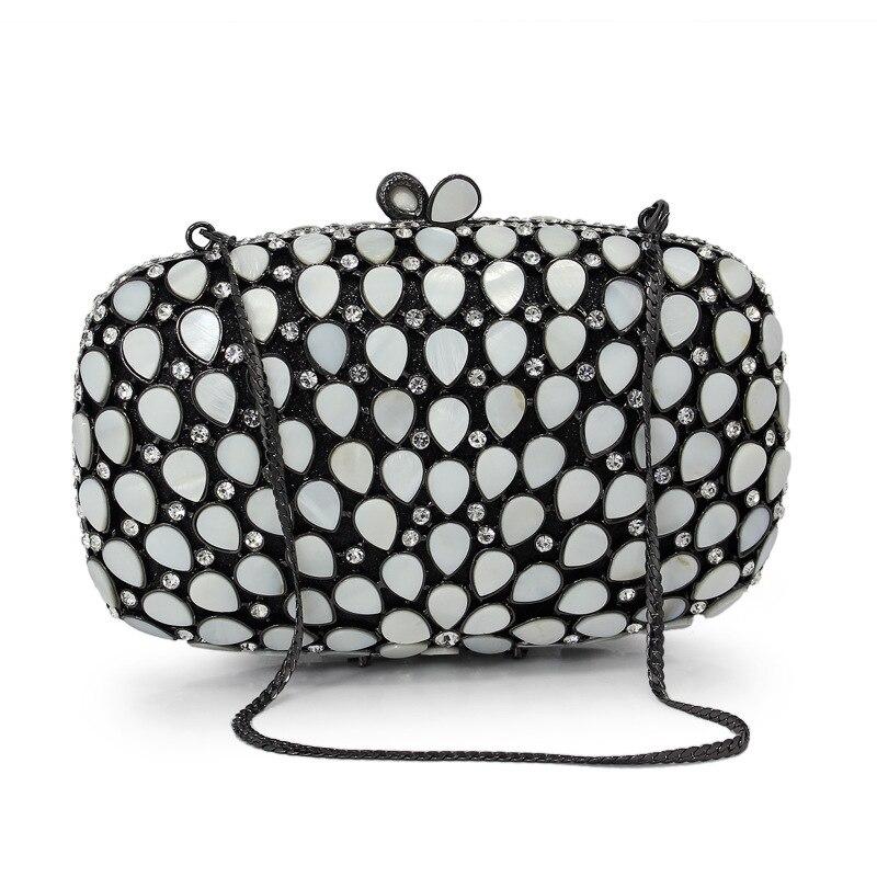 XIYUAN clutch evening bag luxury cyrstal Clutch ladies shoulder bags prom pochette women evening purse bling clutch bag chain цена и фото