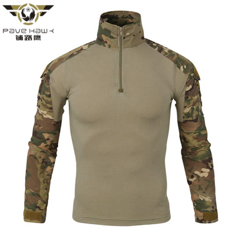 Men Tactical Gear Military Airsoft Special Ops Combat Shirt Camouflage Light Weight Rapid Assault Long Sleeve Shirt Frog Shirt