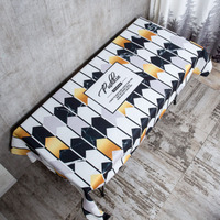 Black Gold Simple Cotton and Linen Waterproof Tablecloth Thickening tablecloth b