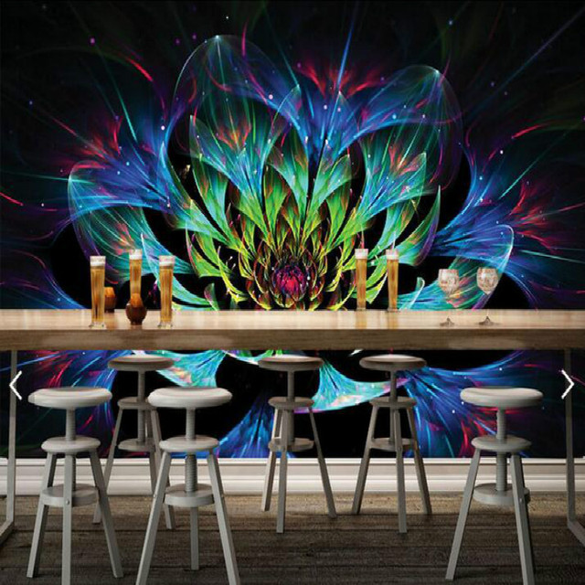 Dazzling Flower Coffee Table Desktop Design Large Scale Murals Wall Papers Living  Room Painting TV