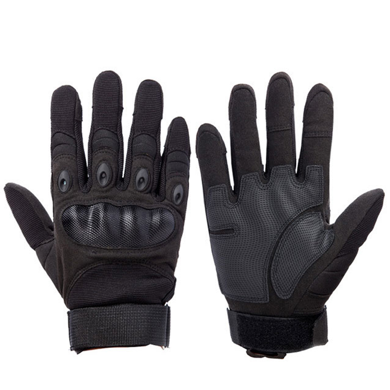 Outdoor Sport Tactical Military Men Gloves Armor Protection Full Finger Gloves For Riding Hiking Climbing Training