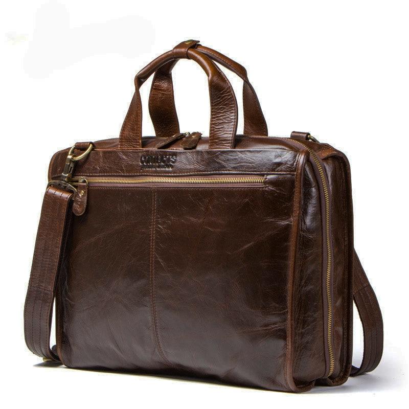 Men s bags genuine leather messenger bags crossbody shoulder bag Laptops Business handbags tote bag office