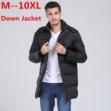 Фотография 10XL 9XL 8XL 6XL 5XL 4XL 2017 Men Thick Warm Hooded Down Jacket Winter White Duck Down Outwear Windproof Parka Male Winter Coat