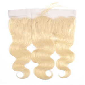 Image 4 - Gabrielle 613 30 inch bundles with frontal Brazilian Body Wave Blonde Bundles with Closure Transparent Lace Remy Human Hair